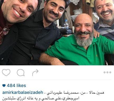 سلفی های امیر جعفری بازیگر پرتوان ایران تصاویر