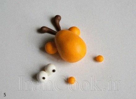 آموزش ساخت عروسک خمیری زرافه  تصاویر