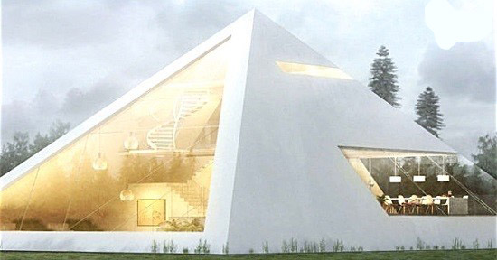 خانه هرمی مفهومی در مکزیک!