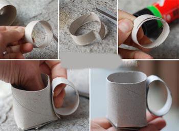 تصاویر کاردستی تلویزیون با جعبه دستمال کاغذی آموزش ساخت فنجان بسیـار جالب و   زیبا با رول دستمال کاغذی ... mimplus.ir
