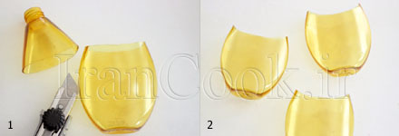 آموزش ساخت گلدان آویز با بطری پلاستیکی  تصاویر