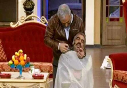 زدن سبیل های سروش صحت در برنامه مهران مدیری! عکس