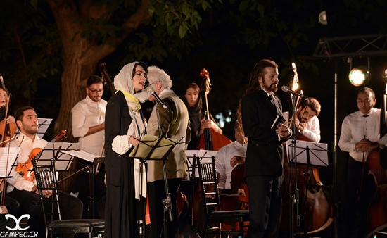 آواز خوانی میترا حجار در کنسرت لوریس چکناواریان