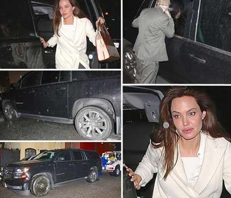 تصادف آنجلینا جولی بعد از اکران فیلمش عکس