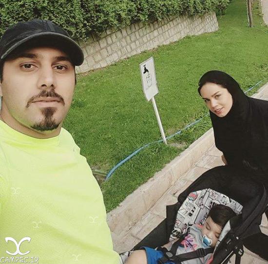 عکس های جدید و متفاوت احسان خواجه امیری با همسرش لیلا ربانی