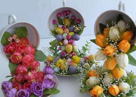 آموزش تزیین فنجان و نعلبکی با گل