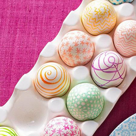 تخم مرغ رنگارنگ عید