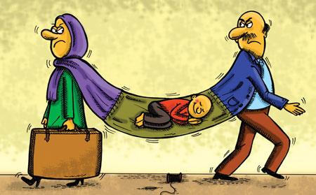کاریکاتور/ بچه طلاق