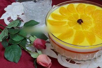 دسر پرکالری و بسیارلذیذ مطبق پرتقالی! عکس