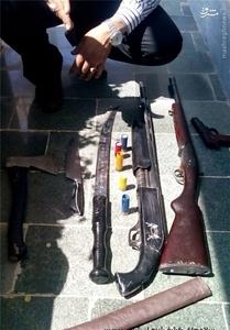 تصاویر درگیری مسلحانه شرور معروف و پلیس در نزدیکی تهران