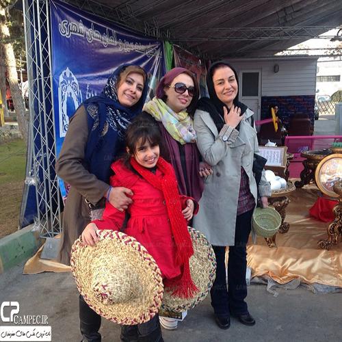 عکس های جدید مریلا زارعی و لادن طباطبایی در بازارچه خیریه