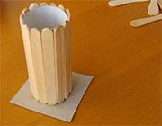 ساخت کاردستی جامدادی چوبی  تصاویر