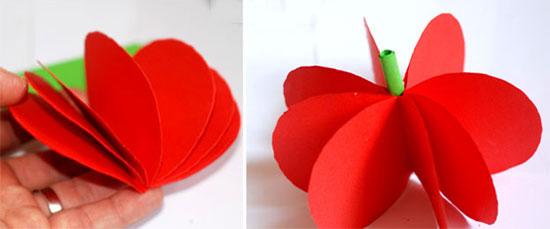 آموزش ساخت میوه های کاغذی بسیار زیبا و ساده تصاویر