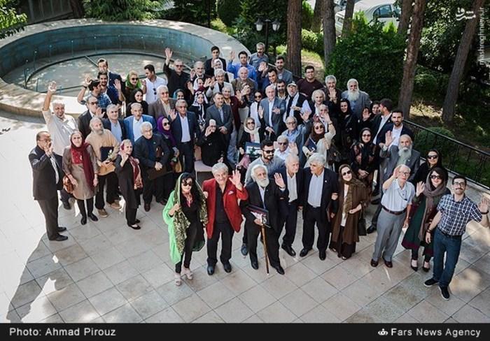 مراسم جشن تولد هنرمندان مشهور پیشکسوت در باغ زیبا