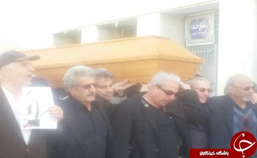 مراسم تشییع پیکر مربی نفت در غیاب مسئولان فدراسیون و سرخابی ها