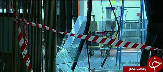 بیمار عصبانی با ماشین داخل ساختمان بیمارستان رفت