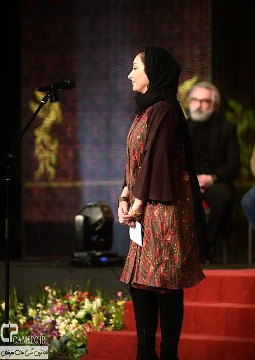 هانیه توسلی در مراسم اختتامیه جشنواره 33 فیلم فجر