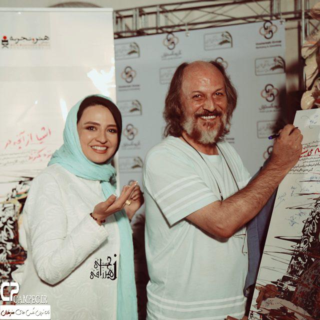 گلاره عباسی و سایر هنرمندان در اکران فیلم جدیدش
