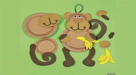 آموزش درست کردن میمون با بشقاب یکبار مصرف