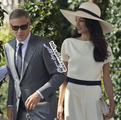تیپ متفاوت همسرجدید جورج کلونی پس از ازدواج