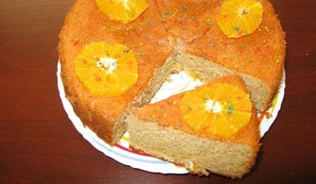 کیک پاییزی خوش عطرو خوش طعم با پرتقال