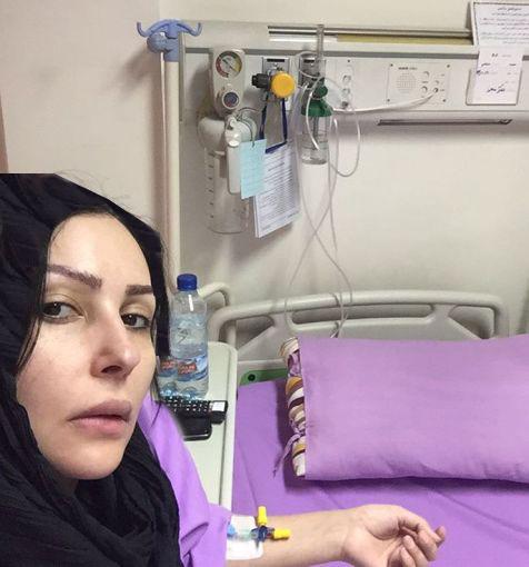 چهره بدون آرایش پرستو صالحی روی تخت بیمارستان