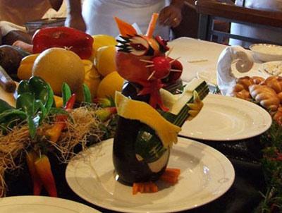 مدل هایی زیبا از تزئین میوه به شکل حیوانات