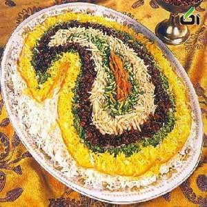 چند تزیین زیبا برای پلو مجلسی/تصاویر
