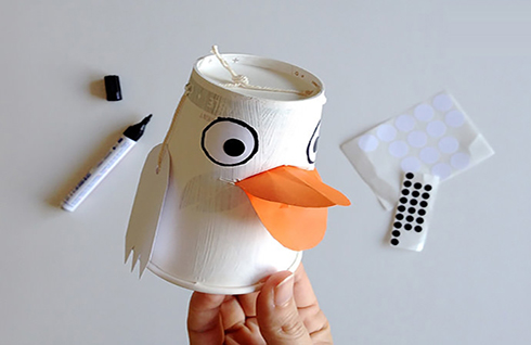 آموزش ساخت جاشکلاتی اردکی بسیار زیبا مخصوص کودکان با لیوان یک بار مصرف تصاویر