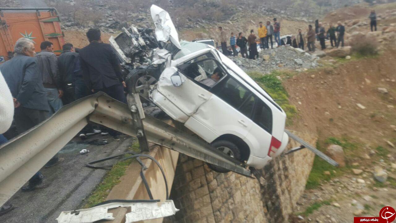 راننده ای که در آتش تصادف زنده زنده سوخت