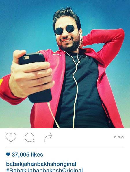 بابک جهانبخش خواننده جوان کشور و پسرش آرتا تصاویر