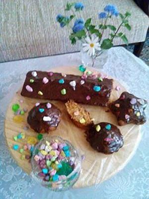 کیک خوشمزه هویج با رویه گاناش! عکس