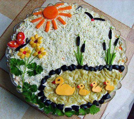 تزیینات زیبای غذای کودکان تصاویر