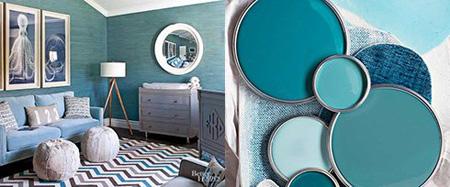 زیباترین ترکیب رنگ های تابستانی برای دکوراسیون اتاق نشیمن