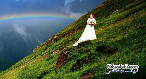 لحظه شگفت انگیز و زیبایی که نصیب یک عروس خانم شد