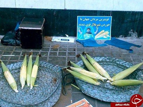 تبلیغات عجیب دست فروشان با حسین رضازاده