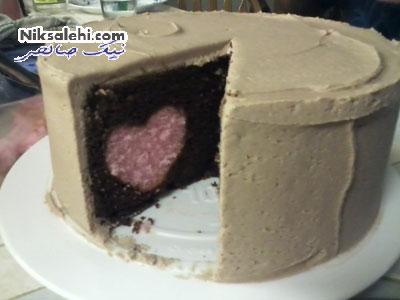 چطور شکل قلب را داخل کیک ایجاد کنیم