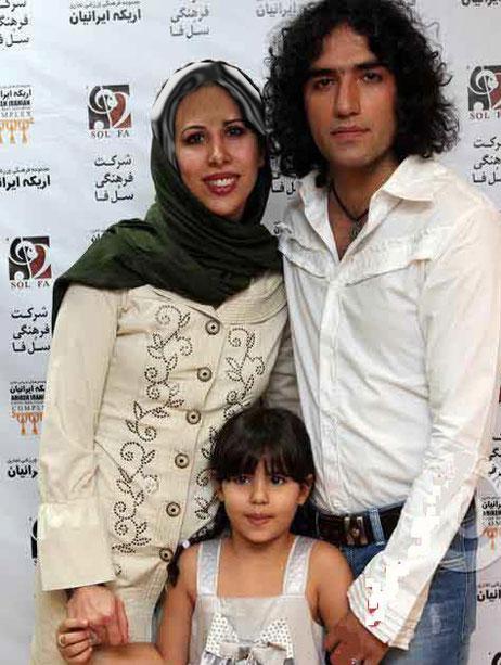 عکس : رضا یزدانی به اتفاق همسر و دخترش