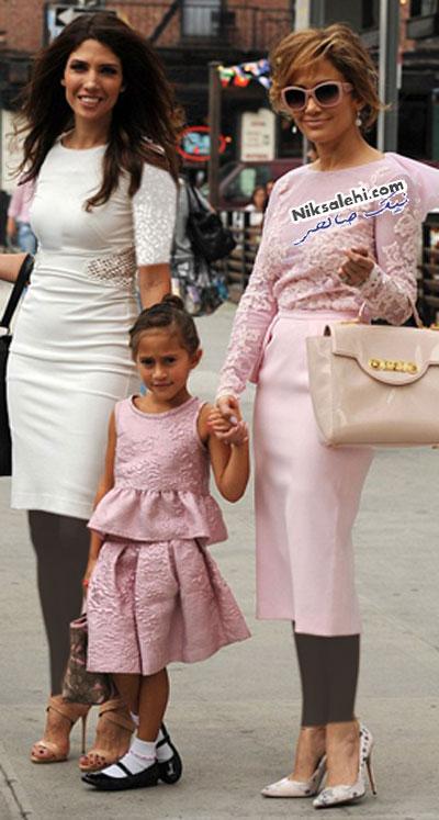 جنیفر لوپز و دخترش با لباس های مشابه