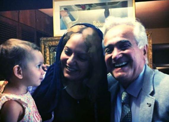 مهناز افشار و دخترش در کنار افتخار موسیقی ایران! عکس