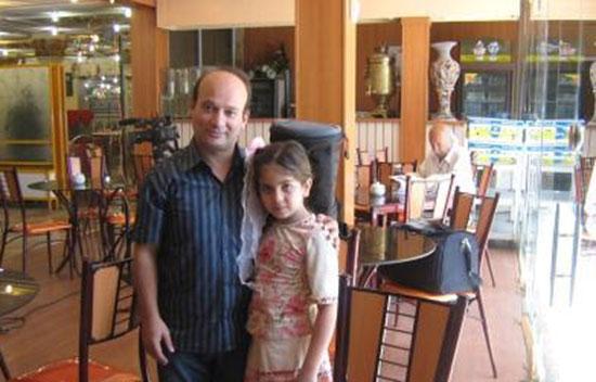 شهرام لاسمی ( قلقلی معروف ) ، همسر و دخترش