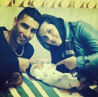 سپیده نزهتی و همسرش زوج فوتبالیست کشورمان عکس