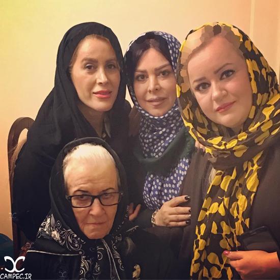 عکس های جدید عیادت بازیگران زن از ملکه رنجبر