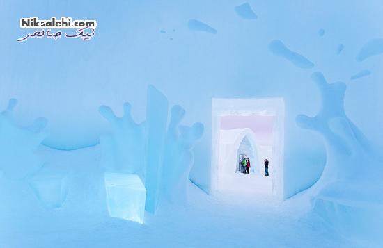 تصاویری زیبا از هتل یخی که تنها چند ماه دوام دارد