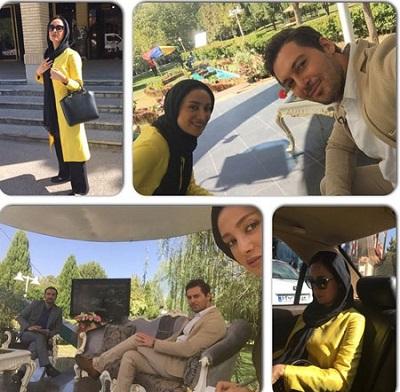 عکسهای جدید دانیال عبادی و بهاره افشاری بازیگران سریال معراجی ها