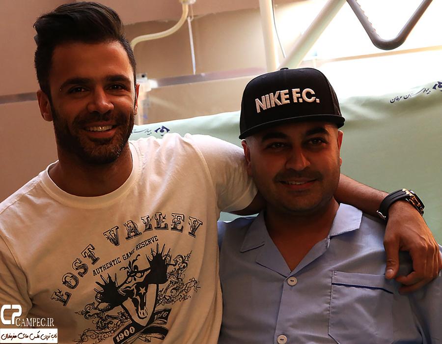 عکس های بستری شدن و ملاقات هنرمندان از بهنام صفوی در بیمارستان