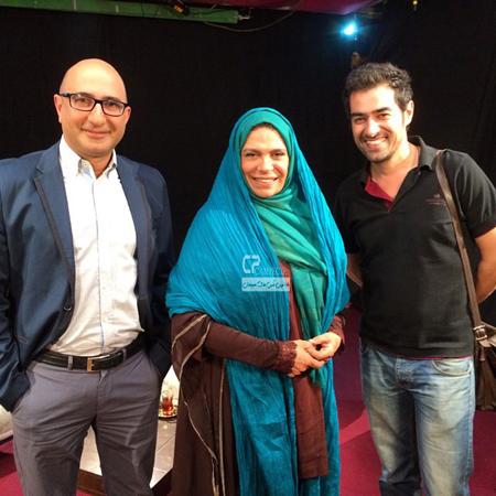 شهاب حسینی و گوهر خیراندیش و مجری معروف عکس