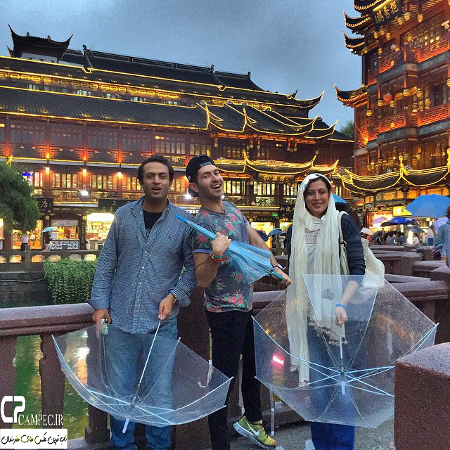 گشت و گذار مهتاب کرامتی و مصطفی زمانی در چین