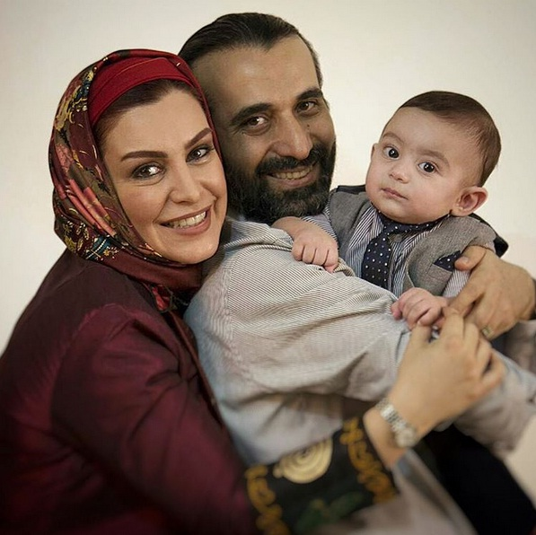 عکس های جدید ماه چهره خلیلی و همسر و پسرش پرواز