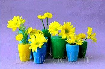 ساخت کاردستی گلدان با بادکنک  تصاویر